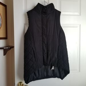 BASS black-and-white puffy vest - large